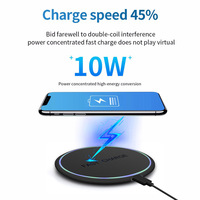FDGAO 10W Qi Wireless Charger for iPhone 11 X XS XR 8 Quick Charge 3.0 Fast Wireless Charging Pad for Samsung S9 S10 Xiaomi mi 9 1