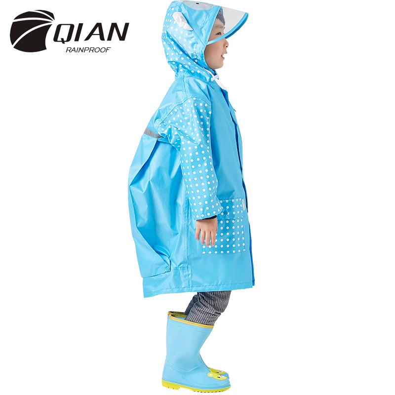 3-10 Years Old Fashion Waterproof Kids Boys Girls Raincoat Hooded Rain Poncho Cartoon Rain Gear Children Rain Coat Suit