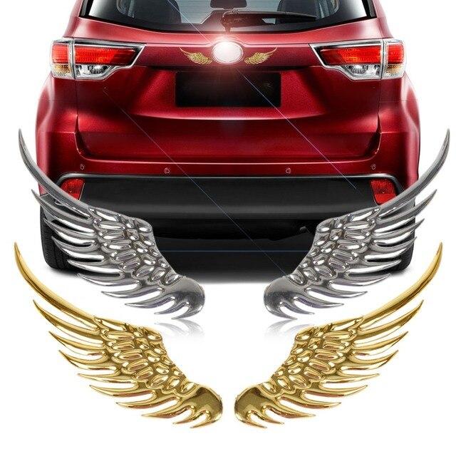 DWCX Car 3D Angel Wings Window Bumper Body Emblem Stickers For Mercedes-Benz GLK Audi A4 Q5 BMW 3 6  VW Jetta Kia Toyota Camry