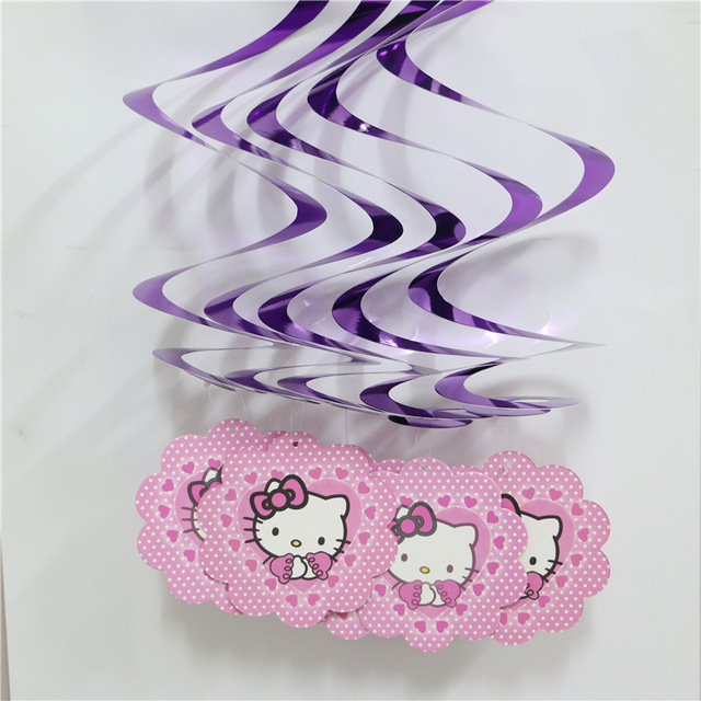 55cm Length Hello Kitty Hanging Spiral Ceiling Birthday Party Kids