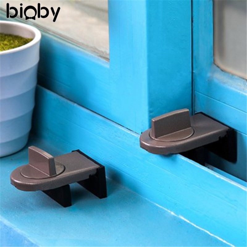 Safety Move Window Child Sash Windows Sliding Door Cabinet Locks Thick Iron Material Straps Hot Sale Straps Security 1 2 4 pcs window door restrictor security locking cable wire child baby safety lock j2y