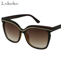 13ae0e5f804 Lukoko Shades Women Sun Glasses Famous Brands Uv400 Sunglases Oculos  Eyewear Female Vintage Sunglasses Women Brand