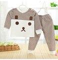 Nueva Primavera Otoño de La Ropa Del Bebé Establece Recién Nacido Ropa Para Bebés Niño Ropa Traje (Camisa + Pantalones) del algodón del bebé de