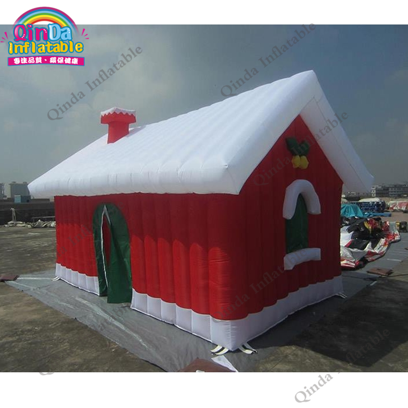 Inflatable Christmas Bouncy Castles Christmas Ornaments Christmas House With Air blower christmas