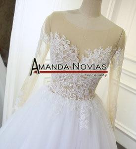 Image 2 - New Model Transparent Top Sexy Wedding Dress Amanda Novias Real Work