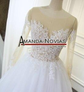 Image 2 - דגם חדש שקוף למעלה סקסי שמלות כלה Novias אמנדה העבודה האמיתית