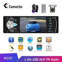 Camecho Autoradio 4022D 4.1 1 Din Car Radio Audio Stereo USB AUX FM Audio Player Radio Station With Remote Control Car Audio