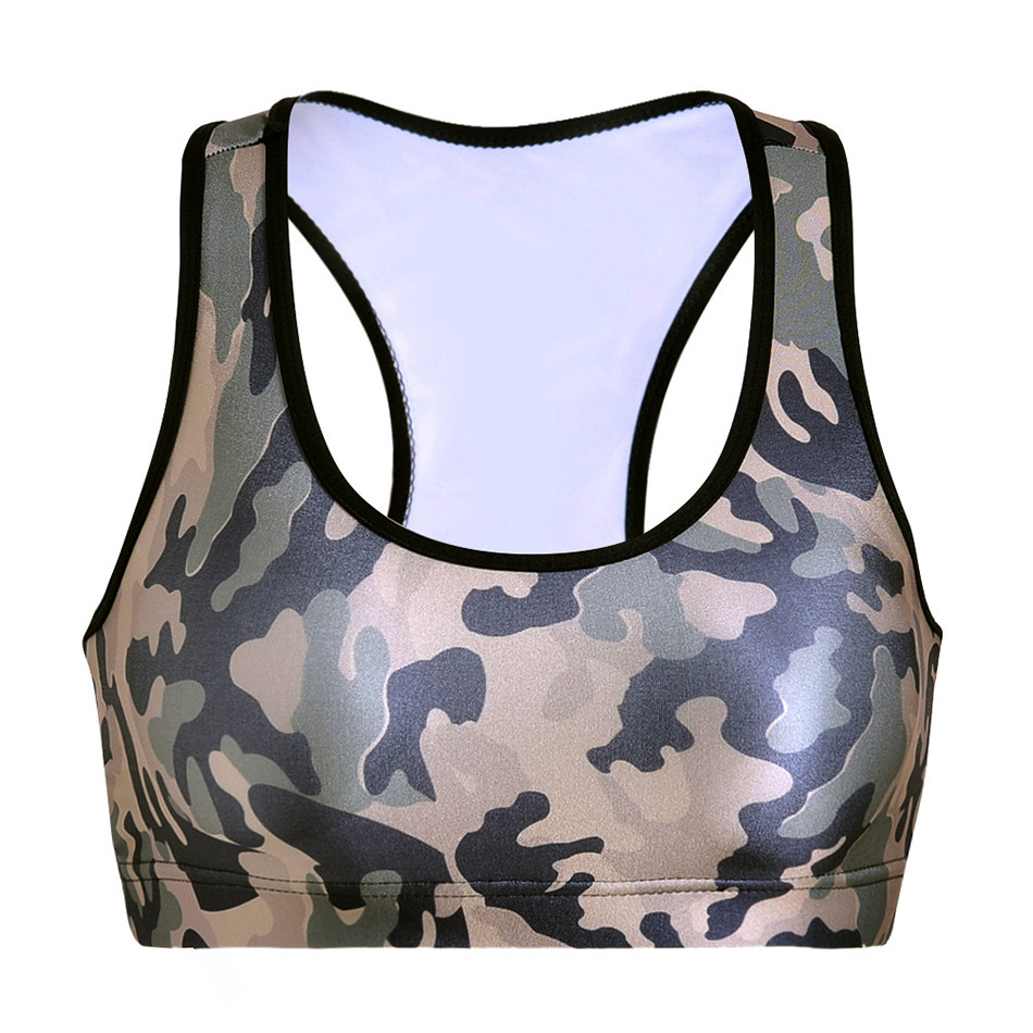 Women 3D Camouflage Sports Bra