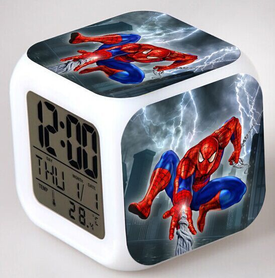 superhero spiderman alarm digital watch 2015 new led. Black Bedroom Furniture Sets. Home Design Ideas