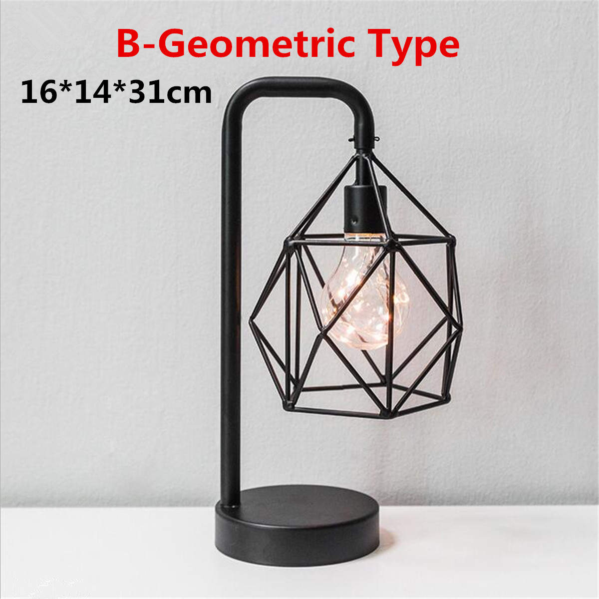Modern Industrial Curved Table Lamp Marble Base Geometric Light Shade Copper Indoor Lighting Bedroom Diamond Table Lights