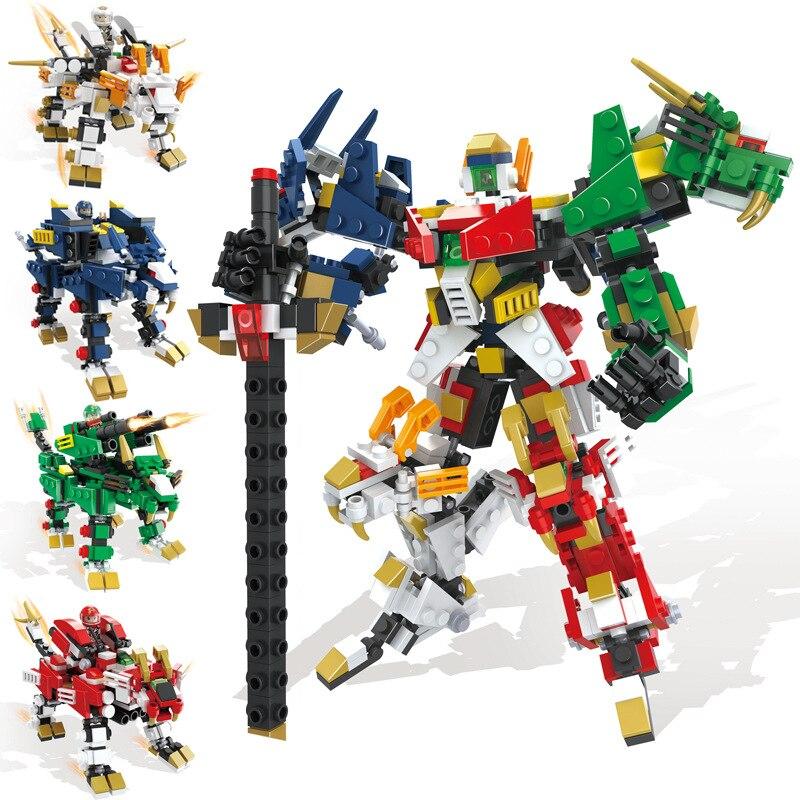 Model Building Blocks Mini Voltron Super Robot Defender Of The Universe Building Blocks Kit Bricks Classic Movie Model Kids Toys Compatible Legoings Consumers First