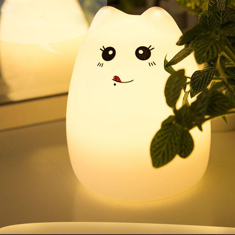 Luzes da Noite do bebê do gato colorido Nightlight : Night Lamp