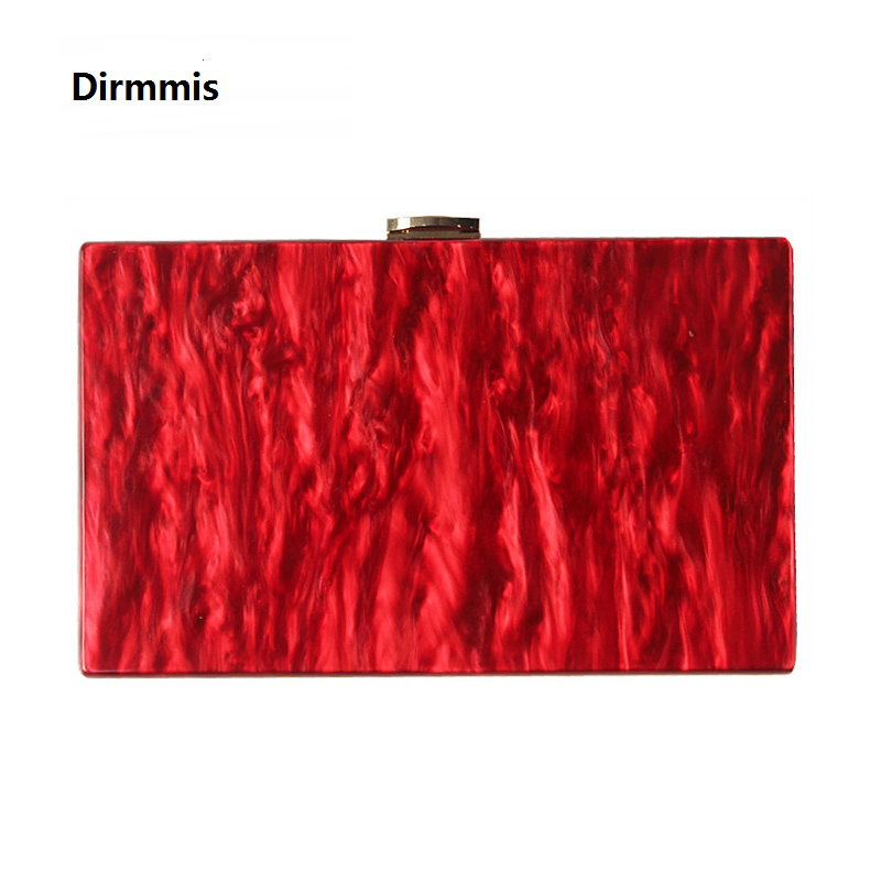 New Wallet Women Messenger Bag Brand Fashion Solid Handbag Marble Pearl Red Woman EveningBag Luxury Small Shoulder Casual Clutch-in Clutches from Luggage & Bags