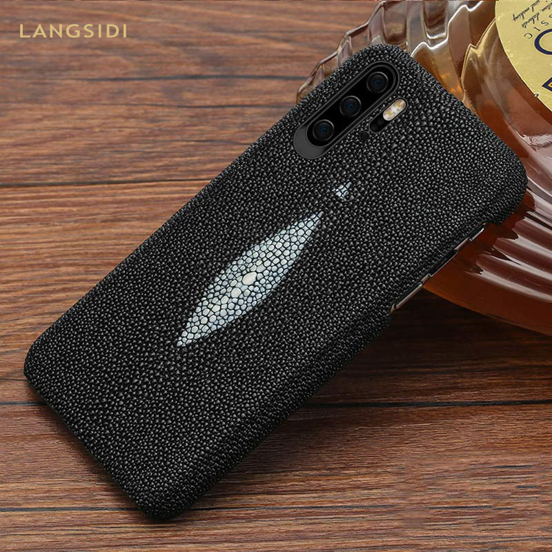 Luxury Genuine Pearl gourami Leather Phone case for HUAWEI P30 P20 Pro Lite Y9 Mate 20 For Honor 20 Pro 10 10i V20 8X 9X cover