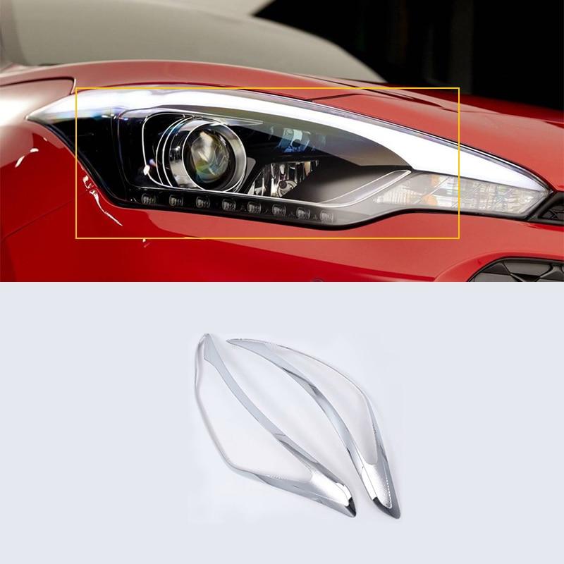 Voiture-style DE Chrome D'ABS d'accessoires de phare Pour HYUNDAI I20 2018