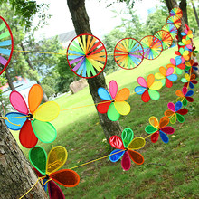 New Hot Arrival Rainbow Wheel Windmill Wind Spinner Whirligig Garden Funny Children Toys Best Christmas Birthday Gift(China)