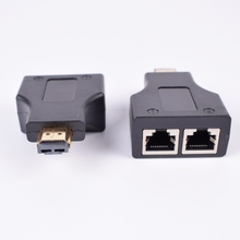 2 قطع HDMI موسع مع 2 منافذ RJ45 ، تمديد إلى 30 متر أكثر من القط 5e CAT6 UTP LAN إيثرنت كابل ل HDTV HDPC