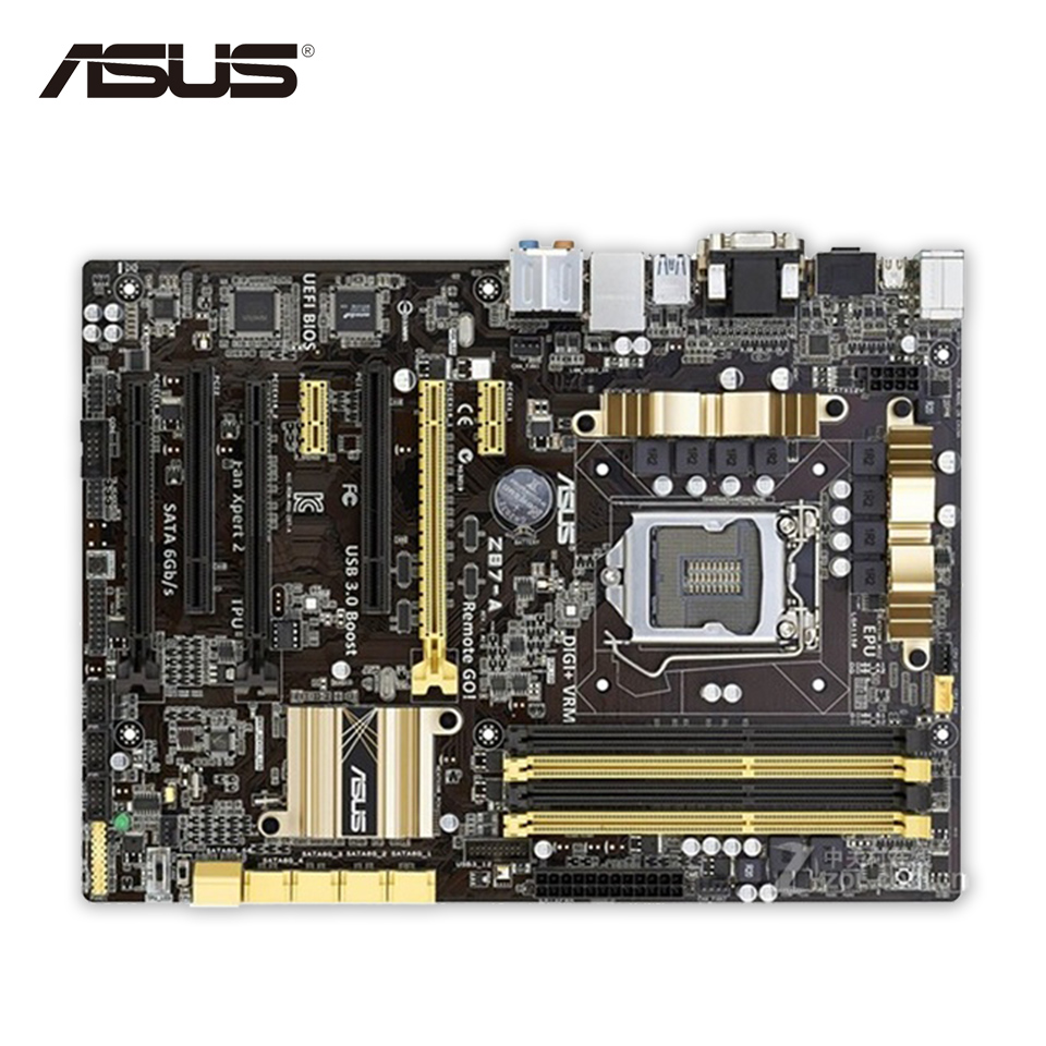 Asus Z87-A Original Used Desktop Motherboard Z87 Socket LGA 1150 i7 i5 i3 DDR3 32G SATA3 USB3.0 ATX seducing the duchess
