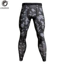 Камуфляжные компрессионные штаны для бега, мужские футбольные тренировочные штаны, спортивные Леггинсы для фитнеса, Мужские штаны для бега в тренажерном зале, спортивная одежда