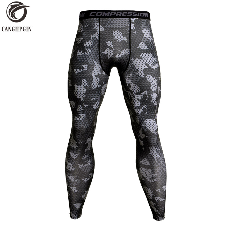 Camouflage Compression Pants Running Tights Men Soccer Training Pants Fitness Sport Leggings Men Gym Jogging Trousers Sportswear 3 piece set men s sports running stretch tights leggings t shirts shorts training pants jogging fitness gym compression suits