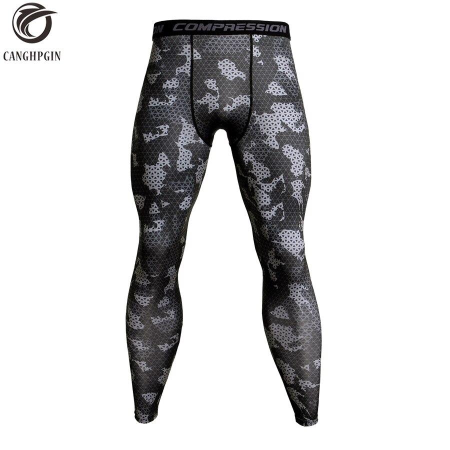 Pantalones de compresión de camuflaje para correr mallas hombres pantalones de entrenamiento de fútbol Fitness deporte mallas hombres gimnasio Jogging pantalones ropa deportiva