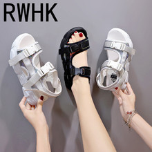 RWHK 2019 summer new womens sandals shoes rubber flat bottom with thick-soled platform women B459