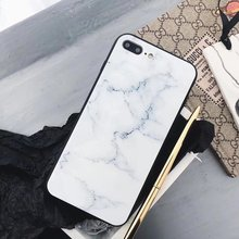 Marble Glass Phone Case iPhone 6 6s Plus 7 7 Plus 8 X