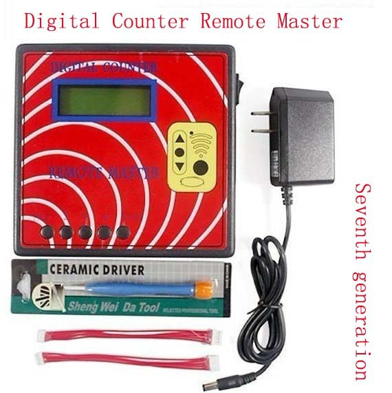 seventh star 100% FREE SHIPPING Seventh generation Digital Counter Remote Master vehicle locksmiths tool Duplicator .