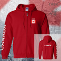 Canada Canadian CAN mens hoodies and sweatshirts off white jerseys polo sweat suit streetwear tracksuit nations fleece zipper
