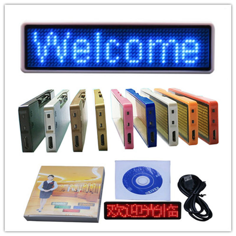 Promotion Wireless LED Badge Bluetooth Led Name Tag 11*44 Scrolling Led Display Led Business Card Electric Led Message Sign
