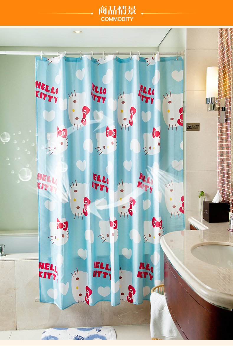 full hd hello kitty bathroom curtain of collection mobile phones cm new shower curtain polyester waterproof