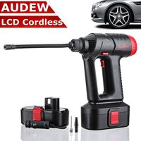 Audew 12V 130PSI Cordless Air Compressor Tire Inflator Hand Held Air Pump Digital LCD Rechargeable Li ion Battery