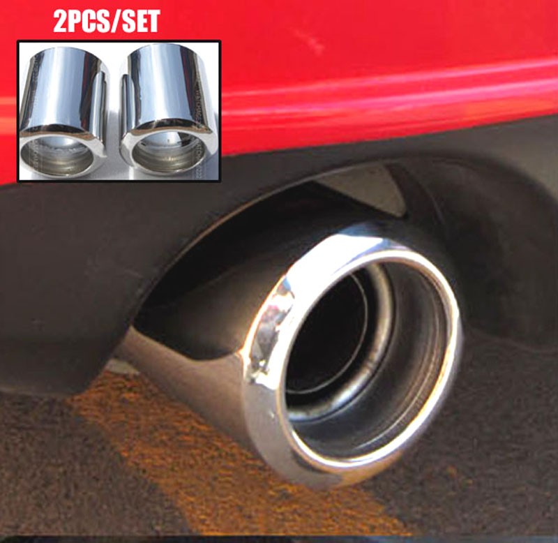 2pc s steel exhaust tip for mazda 6 2009 cx 5 cx5 2013 2017 for mazda 3 muffler pipe tailpipe end trim chrome cover 2016 2014