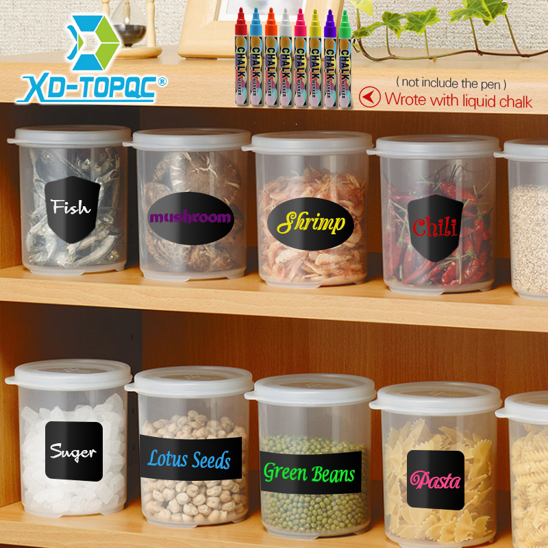 DIY Blackboard Black Sticker Craft Kitchen Labels PVC Multi-purpose Small Blackboard Stickers Living Room Memo Mini Stickers