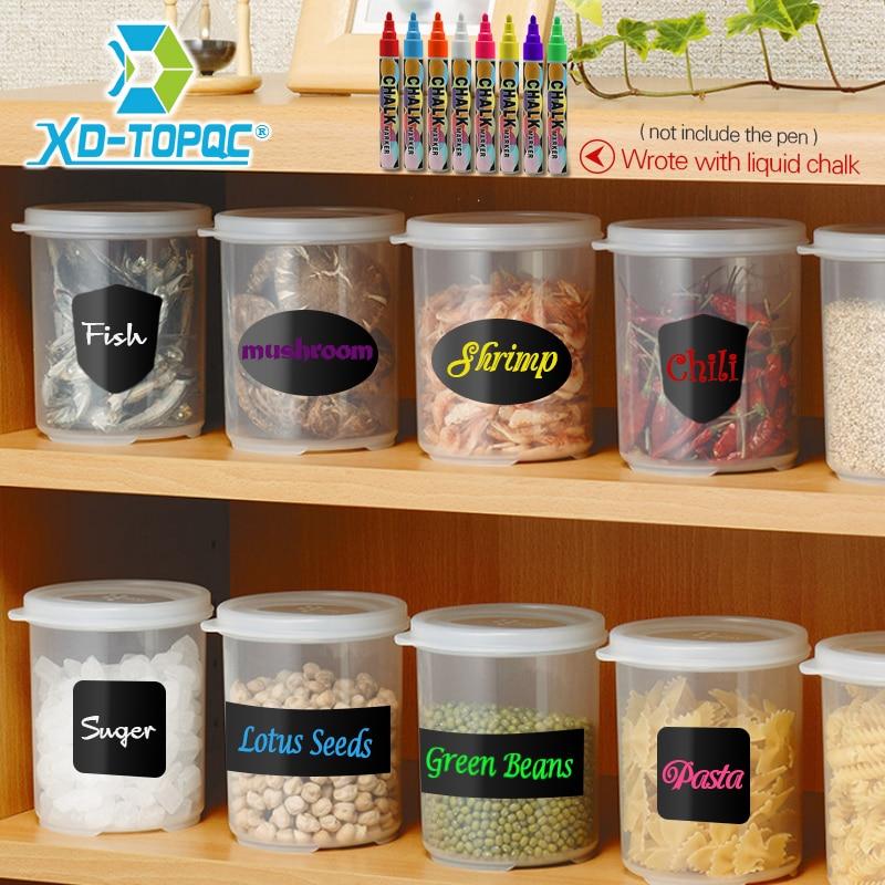 DIY Blackboard Black Sticker Craft Kitchen Labels PVC Multi-purpose Small Blackboard Stickers Living Room Memo Mini Stickers