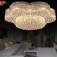 New modern large chandeliers crystal ceiling fixtures AC110v 220v luxury foy lights