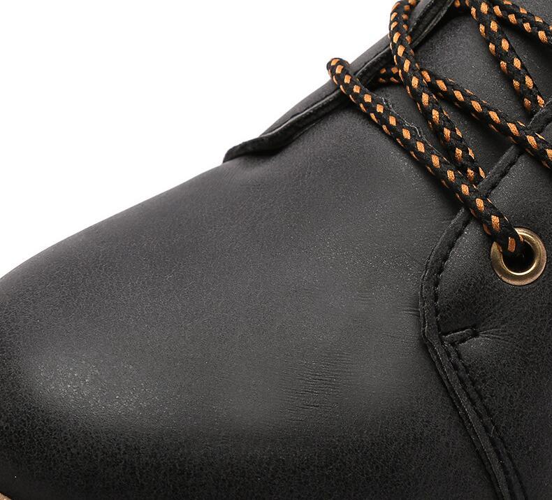 AMSHCA Alle Match Mannen Werken Laarzen Herfst Leisure Enkellaars voor Man Volwassen Platform Veiligheid mannen Boot Kleur Zwart grijs Geel Bruin - 2