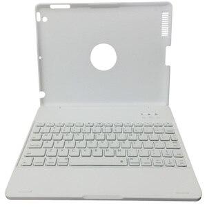 Image 5 - ل iPad2/3/4 الفاخرة سماعة لاسلكية تعمل بالبلوتوث 3.0 لوحة المفاتيح احتياطية البناء في بطارية حالة الغطاء مع موقف لباد 2 3 4