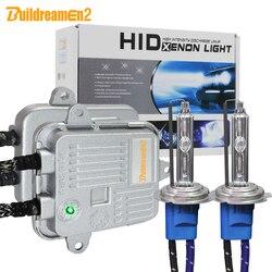 Buildreamen2 alto brilhante ac xenon kit lastro + bulbo 55 w 10000lm h1 h3 h7 h8 h9 h11 9005 9006 12 v luz do carro farol de nevoeiro lâmpada