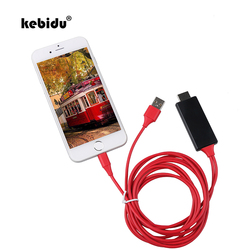 Kebidu 1.8 M 8 دبوس إلى HDMI كابل موصل ذكر HD 1080 P HDMI تحويل كابل محول كابل يو اس بي ل HDTV التلفزيون الرقمية AV لفون ل IOS
