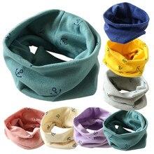 Осенне-зимний хлопковый шейный шарф для мальчиков и девочек, милый детский теплый шарф с рисунком, Детские воротники, Детские шарфы с круглым вырезом, Прямая поставка
