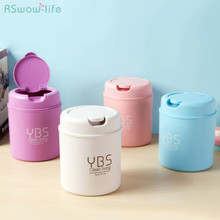 Desktop mini plastic trash can Storage flip car for supplies small