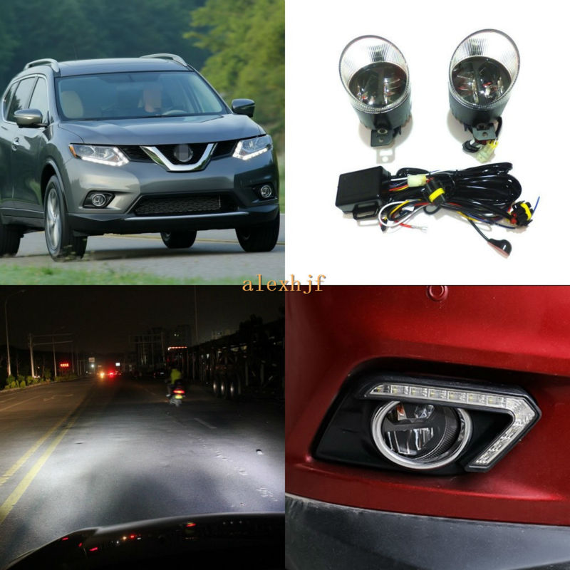 Yeats 1400LM 24W LED Fog Lamp, High-beam and Low-beam + 560LM DRL Case For Nissan X-trail 2014+, Rouge 2007~2011 2014+