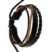 New fashion retro leather bracelet hand-woven couple hand rope men and women jewelry wholesale