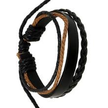 цена на New fashion retro leather bracelet hand-woven couple hand rope men and women bracelet jewelry wholesale