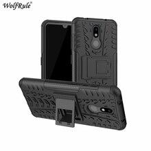 غلاف هاتف لهاتف نوكيا 3.2 6.26 بوصة طبقة مزدوجة درع قذائف غطاء مقاوم للصدمات من البولي يوريثان + البولي يوريثان 3.2 غلاف لهاتف نوكيا 3.2 2019
