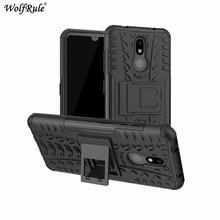 """Etui na telefon dla Nokia 3.2 Case 6.26 """"dwuwarstwowe pancerze TPU + PC odporna na wstrząsy pokrywa dla Nokia 3.2 pokrywa dla Nokia 3.2 2019 Case"""