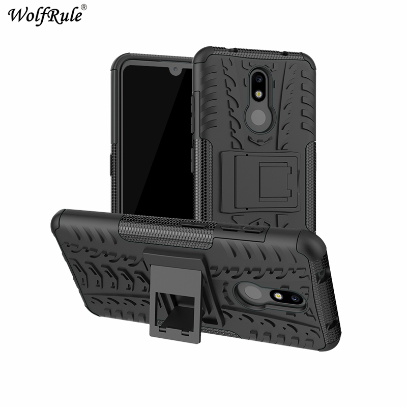 "Phone Case sFor Nokia 3.2 Case 6.26"" Dual Layer Armor Shells TPU+PC Shockproof Cover For Nokia 3.2 Cover For Nokia 3.2 2019 Case-in Fitted Cases from Cellphones & Telecommunications"