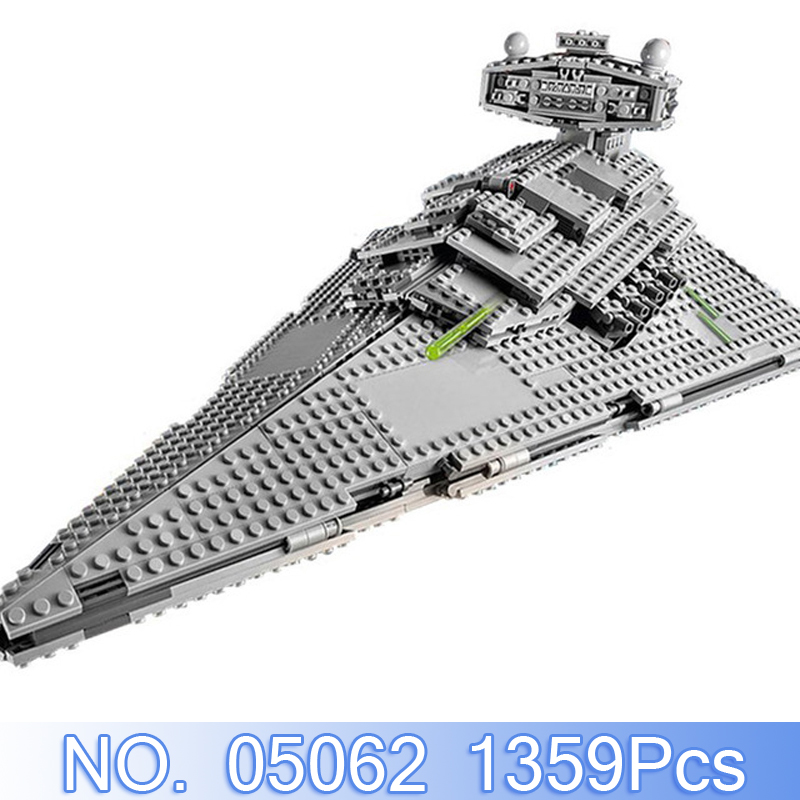 Lepin 05062 1359Pcs Star Wars Fig ures Imperial Star Destroyer Model Building Kits Blocks Bricks Toys Gift Compatible With 75055 цены