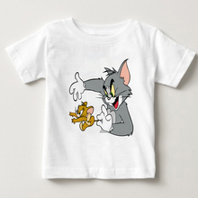 Tom and Jerry lovely cartoon T-shirt girl Popular Personality clothes Brand Good quality casual tops Funny shirts summer MJ